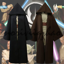 Star Wars Jedi Knight Cloak Halloween Cosplay Adult Robe Hooded Cape Set Costume