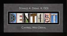 Personalized Art- Dental Dentist Alphabet Photography Letter Wall Art Gift JDENT