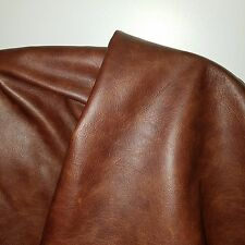 Leather Cow Hide Cowhide Craft Fabric Upholstery Italian Brown 2 tone 2.5 oz
