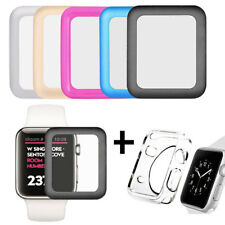 38mm Full Cover Tempered Glasses Screen Protecting Films Case For Apple Watch