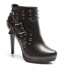 WOMENS LADIES CASUAL PLATFORM HIGH STILETTO HEELS STUDDED ANKLE BOOTS SIZE 3-8