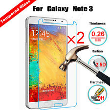 2Pcs Real Tempered Glass Film Hardness Screen Protector For Samsung Note 3 N9000