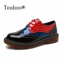 Women Oxford Shoes Vintage Round Toe Derby Ankle