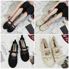 WOMENS LADIES LACE UP FLATS HOLLOW OUT ESPADRILLES SANDALS CASUAL SHOES OXFORDS