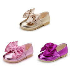 Cute Kids Toddler Girls Casual Bow Knot Flats Shoes Princess Party Dressy Shoes