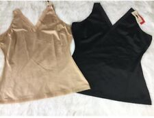 SPANX Slimplicity Double V-Neck Camisole Smooth Shaping Top 310P Nude Black NWT