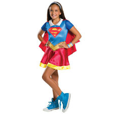 Childrens fancy dress DC Super Hero Girls Supergirl Size S-L 3-10 Years Held