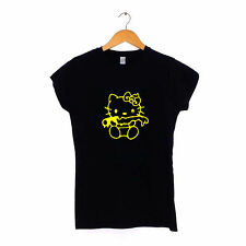 Evil Hello Kitty - Womens Ladies T-Shirt S-XXL Dark Zombie Gothic
