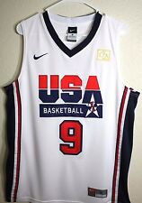 Michael Jordan Dream Team 9 White USA Basketball 1992 Throwback Swingman Jersey