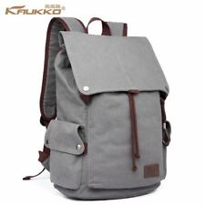 Male Canvas Backpack High Capacity Laptop 15.6 inch backpack School Bag