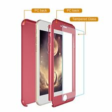 360° FULL BODY CASE + TEMPERED GLASS COVER FOR IPHONE 7 8 X 6S 6 PLUS SE 5S