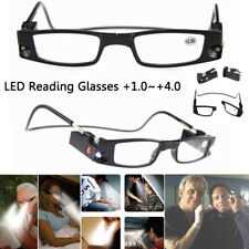 Multi Strength LED Reading Glasses Eyeglass Spectacle Diopter Magnifier Lights
