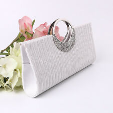 New Satin Rhinestone Handbag Wedding Party Prom Clutch Purse Evening Bag Sexy