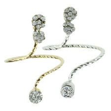 Xmas gift Pattern Twisted Above Knuckle Band Midi Finger Nail Ring Snake X5Y8