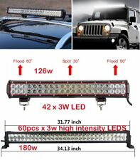 LED WORK LIGHT BAR FLOOD SPOT OFFROAD FOG DRIVING LAMP WHITE BOAT JEEP UTE SUV