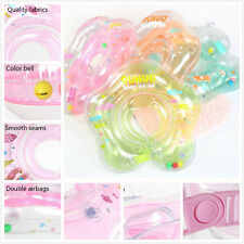Baby Infant Neck Float Collar Kids Ring Aerated Swim Lifebuoy Tube  Multi-Color