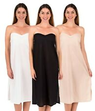 Strapless Maxi Dress Slip Zara in Cotton by Spirituelle – White, Black, Crema
