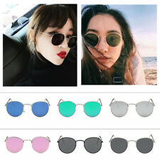 Retro Womens Mens Metal Frame Sunglasses Glasses Vintage Round Outdoor Eyewear
