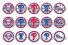 "MLB Philadelphia Phillies PRE CUTS or DIGITAL SHEET 1"" Circle Bottle Caps"