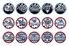 "NFL Tennessee Titans PRE CUTS or DIGITAL SHEET 1"" Circle Bottle Caps"