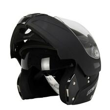 Helmet Motorcycle Black Full Face Style Touring Motorbike Dot Smoked Lens Sports