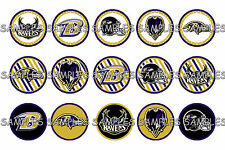"NFL Baltimore Ravens #2 PRE CUTS or DIGITAL SHEET 1"" Circle Bottle Caps"