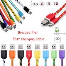3/6/10FT Strong Braided USB Charger Cable Data Sync Cord For iPhone 5 5C 5S 6 6+