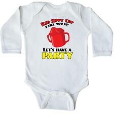 Inktastic Red Sippy Cup Long Sleeve Creeper Toby Keith Funny Baby Humor Laughs