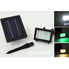 Outdoor Garden  2Color Solar Power 40LED Pathway Yard Spot Flood Light Lawn Lamp
