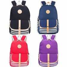 Fashion Women's Girls Canvas School Backpack Student Bookbag Casual Travel Bags