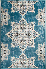 NEW (CH#208) TRADITIONAL, BLUE MODERN AREA RUG APROX SIZES 2X3 2X7 4X5 5X7 8x11