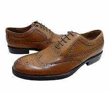 Johnston & Murphy Mens Tyndall Wing Tip Lace Up Business Casual Dress Shoes