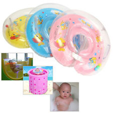 New-Born Baby Bath Tub Seats Safety Bath Swim Pool Rings Infant Neck Float Ring