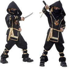 Boys Assassin Fancy Cosplay Kids Ninja Warrior Dress Costume Halloween Japanese