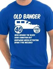 40th Forty Mens Age 40 Birthday Funny T-Shirt Old Banger! Size S-XXL