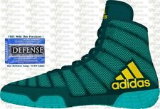 Adidas Adizero Varner MEN'S Wrestling Shoes, Aqua-Yellow-Blue BA8022  NEW!