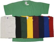 Youth Baseball T-Shirt Tee NuBlend Short Sleeve Crew Neck Solid Russell Athletic