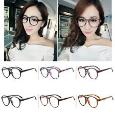 Sexy Vintage Retro Fashion Women's Glasses Round Anti-fatigue Clear Lens Eyewear