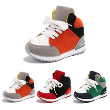 Kid Boys Girls Sport Running Shoes Casual Lace Up Shoes Sneakers Trainers 8-11.5