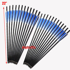 "3/6/12/24Pcs 22""Bolts Carbon Arrows for crossbow Archery shooting Dead Strike US"