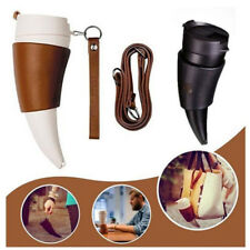 Goat Horns Shaped Insulation Vacuum Thermos Mug Coffee Cup Water Creative Bottle