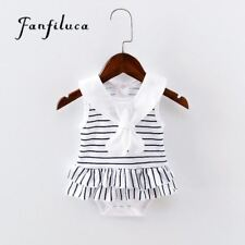 Fanfiluca Striped Cotton Soft Baby Girl Dress