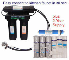 Home Drinking USA Reverse Osmosis RO System. Easy connect to your kitchen faucet