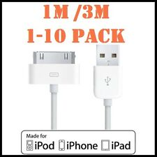 USB Data Charger Sync Cable for Apple iPhone 4S 4 3GS iPod Touch iPad 2 3
