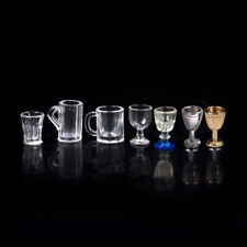 Hot 1:12 Dollhouse Miniature Kitchen Glass Beer Wine Cup Drink Bottles Decor ZY
