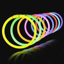 """8"""" Glow Light Sticks Bracelets 5 Colors Neon Glo Party Necklaces, party/holiday"""
