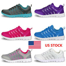 US Womens Running Trainers Walking Shoes Sports Breathable Mesh Shoes Sneakers