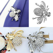 Silver / Gold Plated Rhinestone Cute Bee Brooch Pin Collar Scarf Brooch Pin