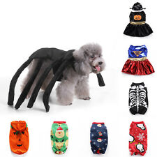Pet Dog Halloween Party Xmas Clothes Puppy Cats Dress Up Cosplay Fancy Costume