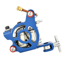 Tattoo Machine Gun Shader Liner 10 Wrap Coils Tattooing Supply Yellow/Blue